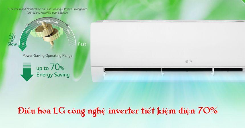 Điều hòa LG V10APIUV sử dụng công nghệ inverter