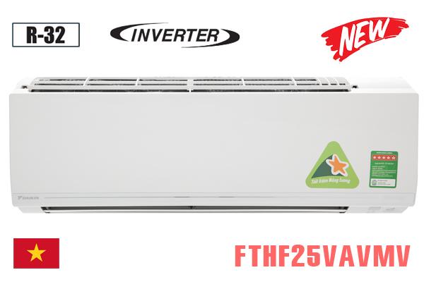 Điều hòa daikin 9000btu 2 chiều inverter FTHF25VAVMV