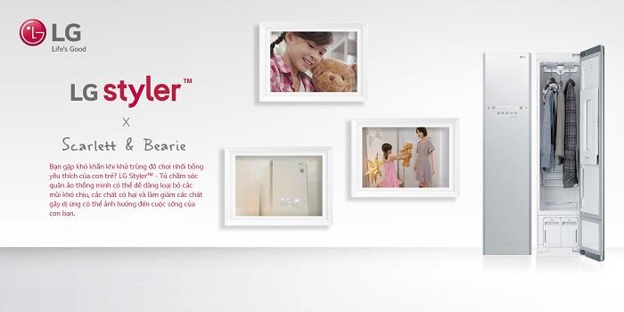 Tủ LG Styler chăm sóc quần áo thông minh S3WF (trắng)