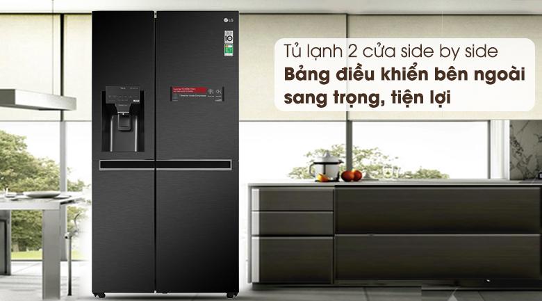 Tủ lạnh LG GR-D247MC 668 Lít Side By Side Inverter, sang trọng hiện đại