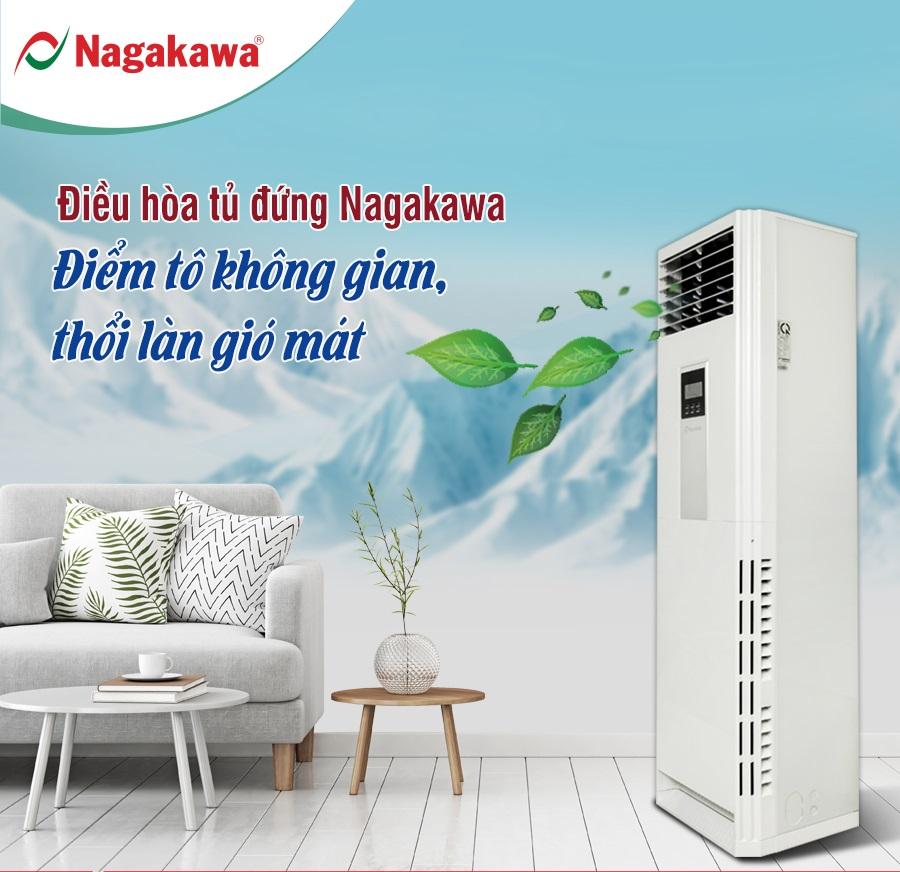 Điều hòa tủ đứng 2 chiều Nagakawa 100.000BTU NP-A100DL