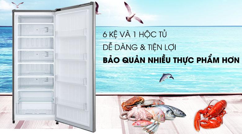 Tủ lạnh LG GN-F304PS inverter 304 lít, chia nhiều ngăn kệ