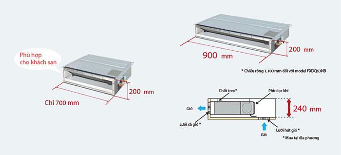 Dàn lạnh nối ống gió Multi Daikin 2 chiều 12.000BTU CDXM35RVMV