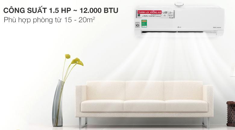 Công suất 12000btu phù hợp với phòng từ 15-20m2 V13APFUV