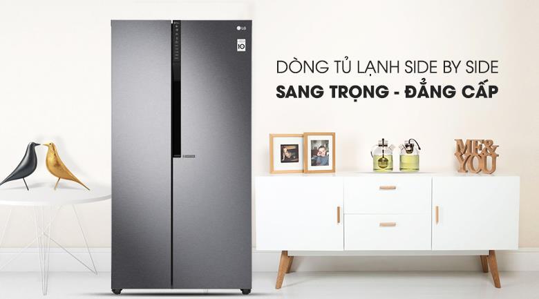 Tủ lạnh LG GR-B247JDS Side By Side Inverter 613 lít, sang trọng đẳng cấp