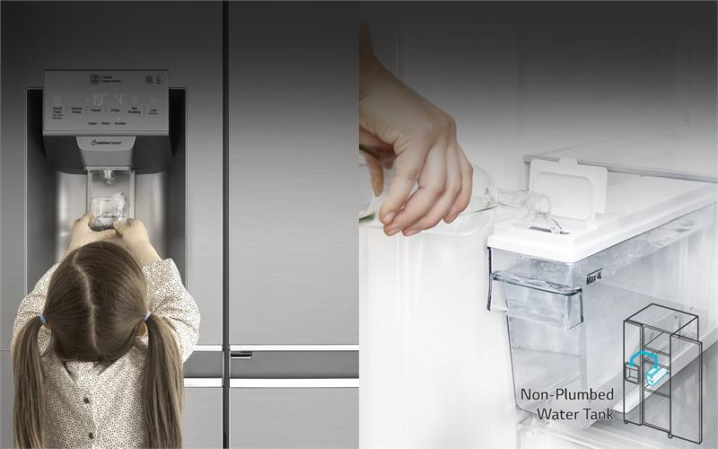Tủ lạnh LG GR-P247JS Inverter 601 lít, lấy nước ngoài tiện lợi