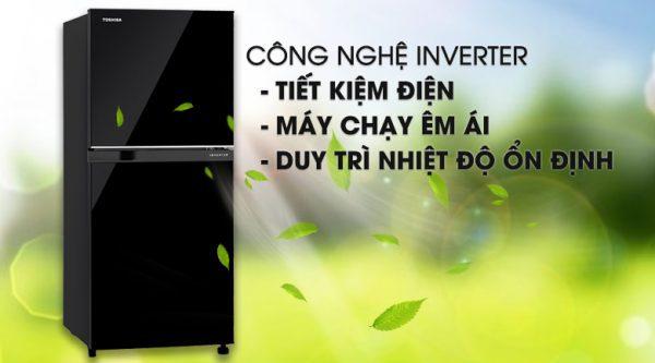 Tủ Lạnh Toshiba GR-B22VU UKG 180 lít inverter, tiết kiệm điện