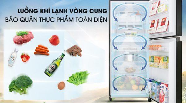 Tủ Lạnh Toshiba GR-B22VU UKG 180 lít inverter, làm lạnh nhanh
