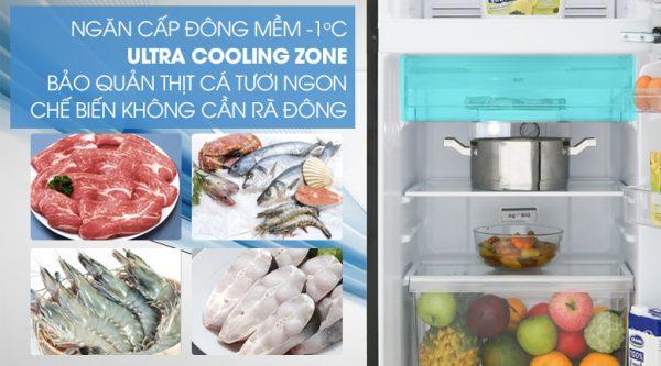 Tủ Lạnh Toshiba GR-B22VU UKG 180 lít inverter, ngăn đông mềm