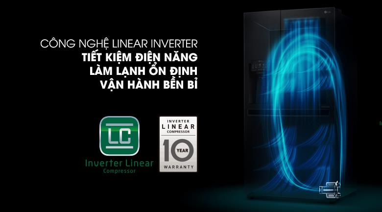 Tủ Lạnh GR-X247MC InstaView Door-in-Door 601 lít, inverter tiết kiệm điện