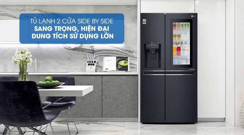 Tủ Lạnh GR-X247MC InstaView Door-in-Door 601 lít, sang trọng hiện đại