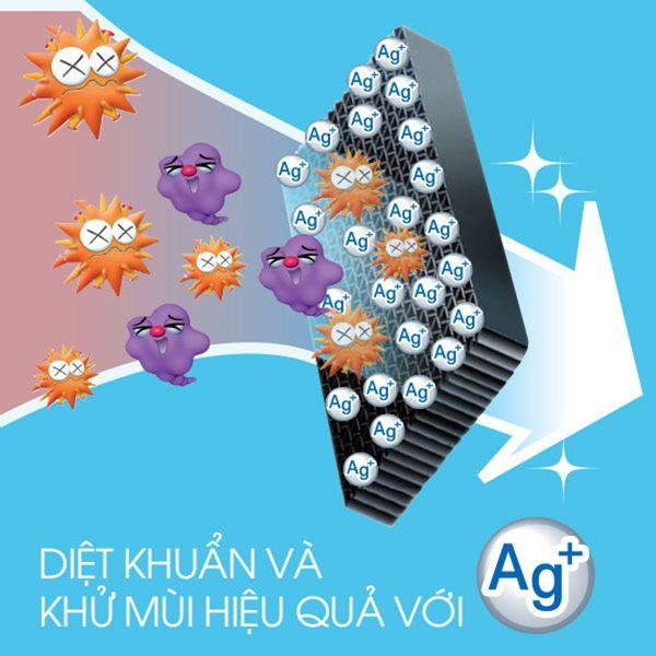 NS-C12R1M05l, công nghệ diệt khuẩn Ag+