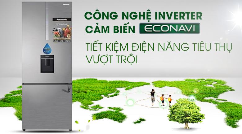 Tủ Lạnh PanasonicNR-BX460WSVNInverter 410 LÍT, tiết kiệm điện