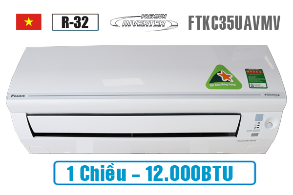 Điều hòa Daikin 12000btu 1 chiều inverter FTKC35UAVMV