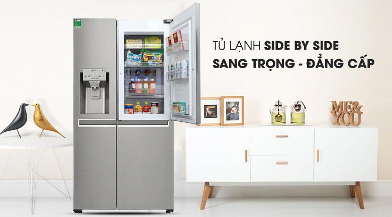 Tủ lạnh LG GR-P247JS Inverter 601 lít, sang trọng đẳng cấp