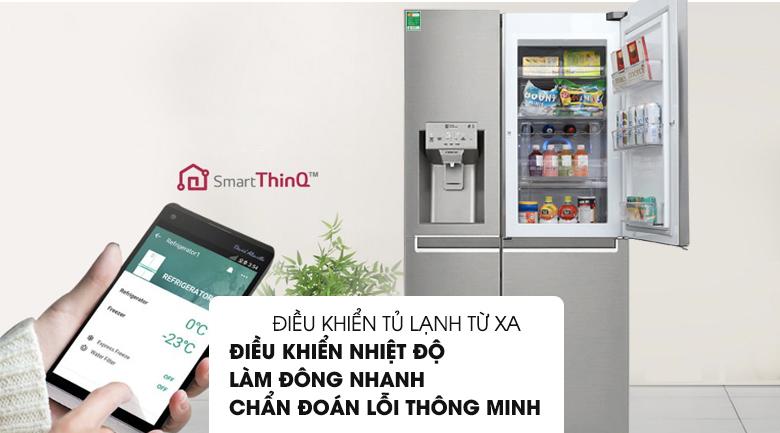 Tủ lạnh LG GR-P247JS Inverter 601 lít, diều khiển thông minh bằng điện thoại