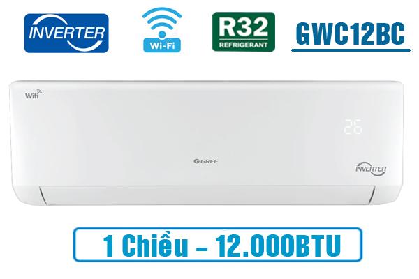 ĐIỀU HÒA GREE INVERTER 1 CHIỀU 12.000BTU GWC12BC-K6DNA1B