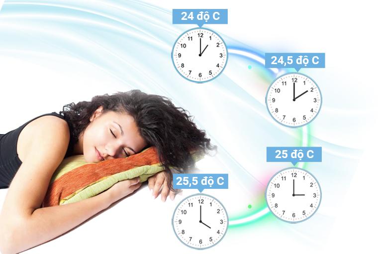 Điều hòa Fujitsu 2 chiều 12.000BTU inverter Fujitsu ASAG12LLTA-V, chế độ ngủ