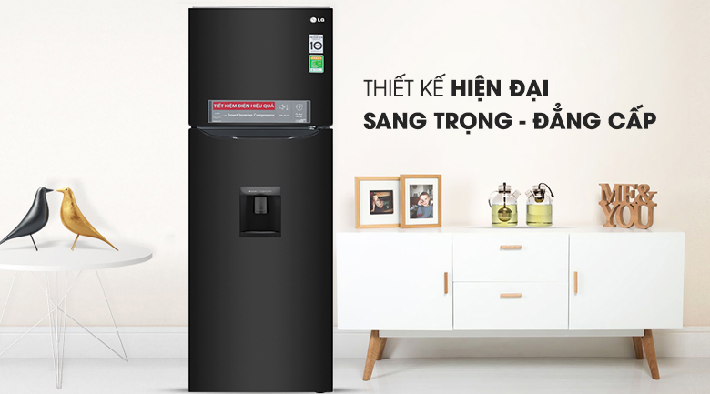 Tủ lạnh LG GN-D255BL inverter 255 lít, sang trọng hiện đại