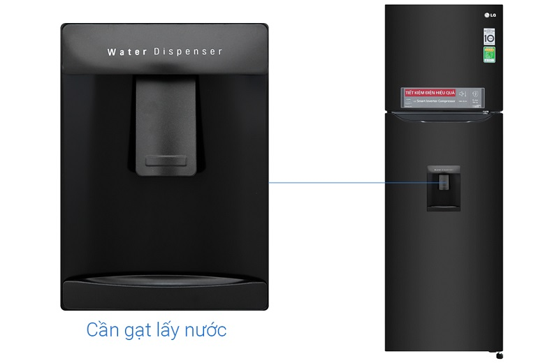 Tủ lạnh LG GN-D255BL inverter, lấy nước ngoài tiện lợi