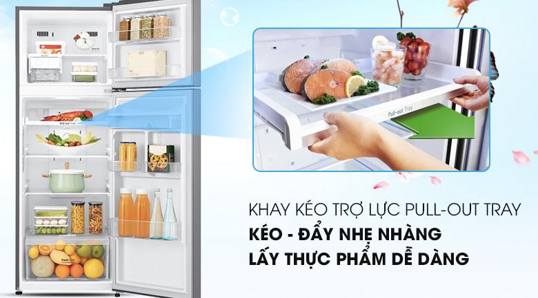 Tủ lạnh LG GN-D255BL inverter, khay trượt tiện lợi