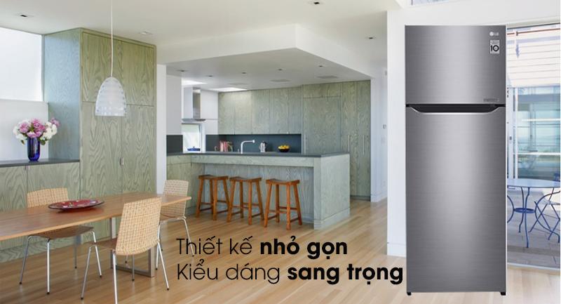 Tủ lạnh LG Inverter Smart 209 lít GN-M208PS, sang trọng