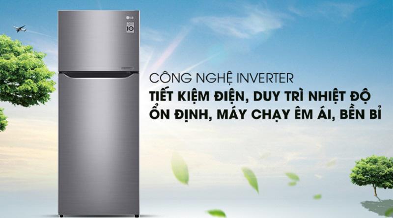 Tủ lạnh LG Inverter Smart 209 lít GN-M208PS, inverter tiết kiệm điện