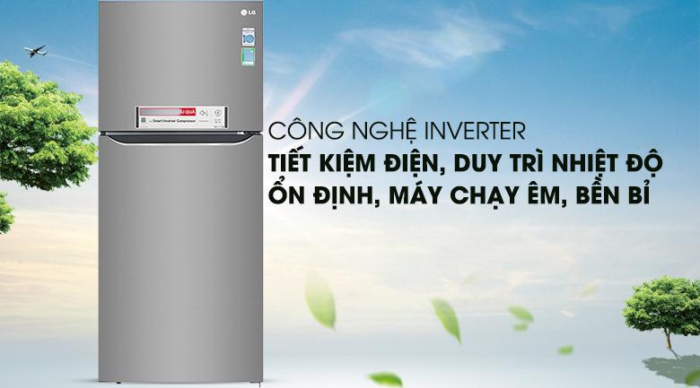 Tủ lạnh LG GN-M422PS innerter 393 lít, tiết kiệm điện