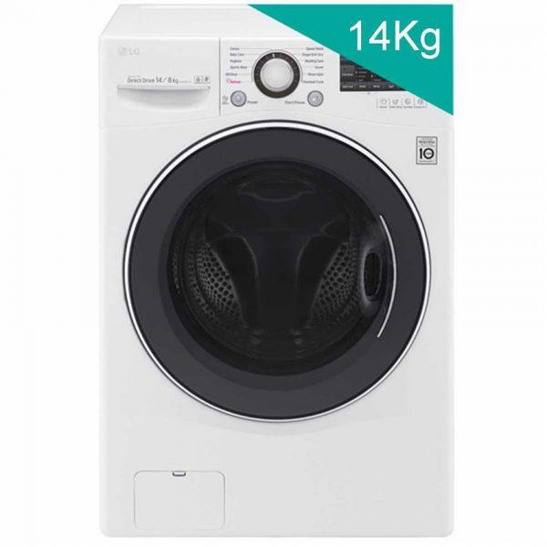 Máy giặt sấy LG Inverter 14kg F2514DTGW - màu trắng (2019)