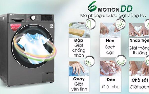 Máy giặt sấy lồng ngang LG Inverter 9kg FV1409G4V (2020)