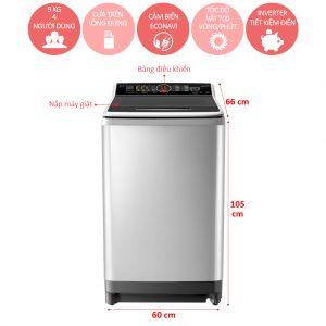 Máy giặt Panasonic NA-F90X5LRV 9kg lồng đứng inverter