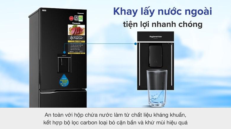 Tủ Lạnh Panasonic NR-BV320WKVN 290 lít inverter, lấy nước ngoài tiện lợi