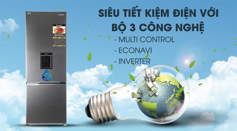 Tủ lạnh Panasonic Inverter 290 lít NR-BV320WSVN, bộ 3 tiết kiệm điện