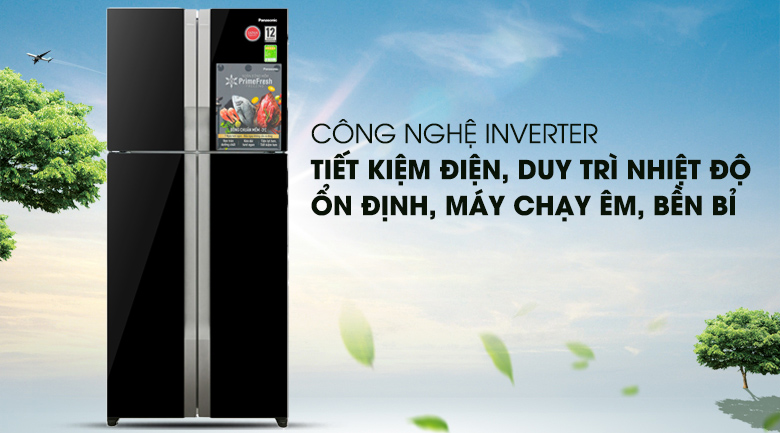 Tủ Lạnh Panasonic NR-DZ600GKVN Inverter 550 Lít, tiết kiệm điện