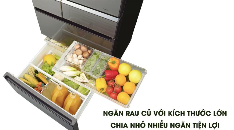 Tủ lạnh Panasonic NR-F654GT-X2 inverter 642 lít, chứa rau củ tiện lợi