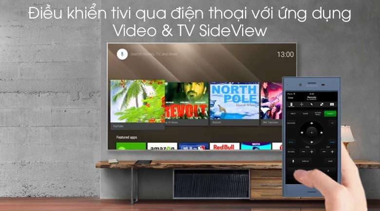 Tivi Sony Android KD-85X9500G, điều khiển qua điện thoại thông minh