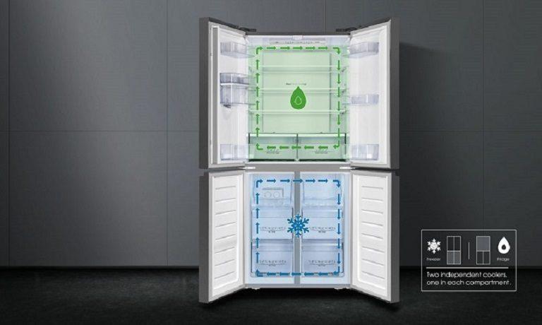 thinh-phat-Tủ lạnh Casper RM-522VBW hệ thống 2 dàn lạnh độc lập