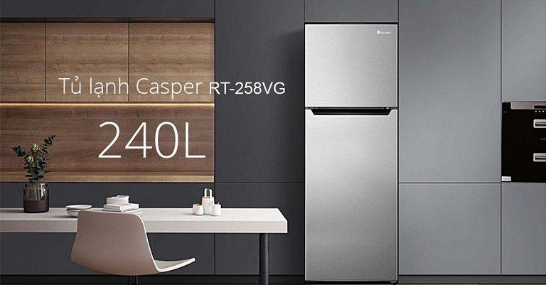 Tủ lạnh Casper 2 cửa 240L RT-258VG inverter