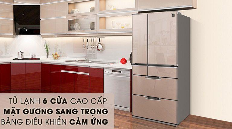 thinh-phat-Tủ lạnh Sharp SJ-GF60A-T thiết kế sang trọng-hiện đại