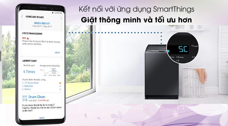 Máy giặt SamsungWA22R8870GV/SV 22Kg, kết nối đt thông minh
