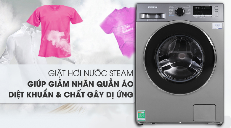 Máy giặt Samsung WW85J42G0BX/SV, giặt hơi nước