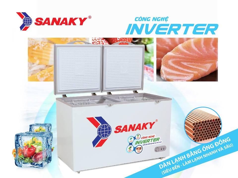 Tủ Đông Inverter Dàn Đồng 2 Ngăn VH-2599W3 250 Lít