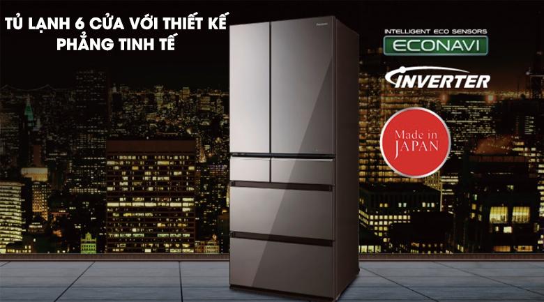 Tủ Lạnh PanasonicNR-F503GT-T2 Inverter 491 Lít, sang trọng