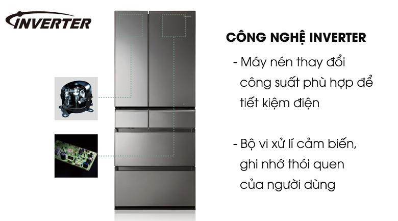 Tủ Lạnh PanasonicNR-F503GT-T2 Inverter 491 Lít, tiết kiệm điện