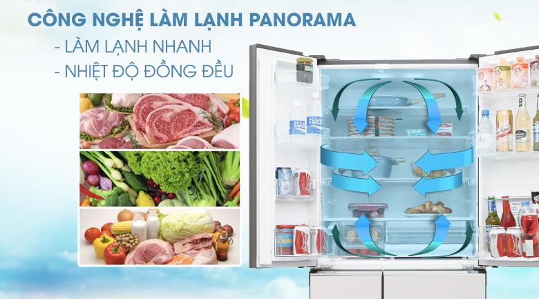 Tủ Lạnh PanasonicNR-F503GT-T2 Inverter 491 Lít, làm lạnh nhanh