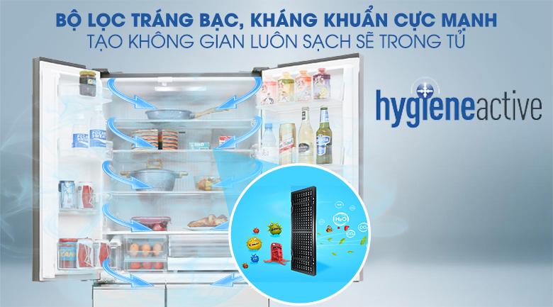 Tủ Lạnh PanasonicNR-F503GT-T2 Inverter 491 Lít, kháng khuẩn kiệu quả