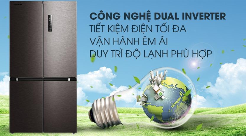 Tủ lạnh Toshiba GR-RF610WE, tiết kiệm điện