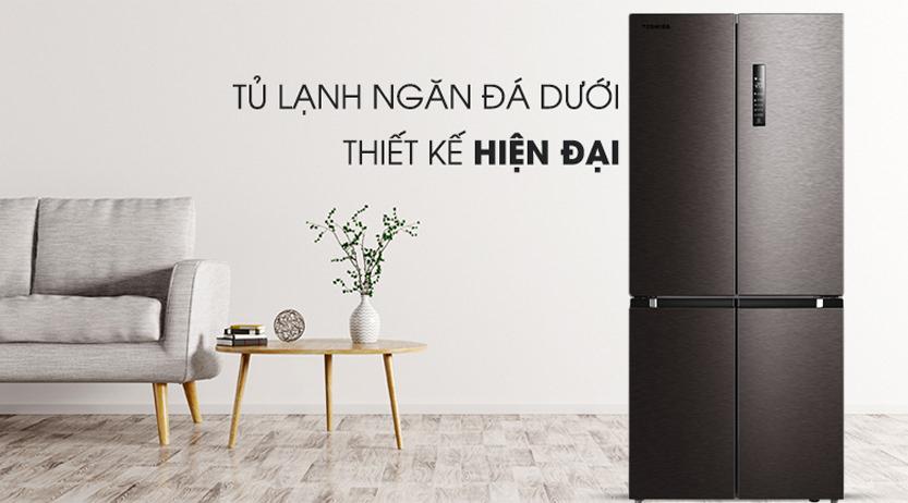 Tủ lạnh Toshiba GR-RF610WE, hiện đại