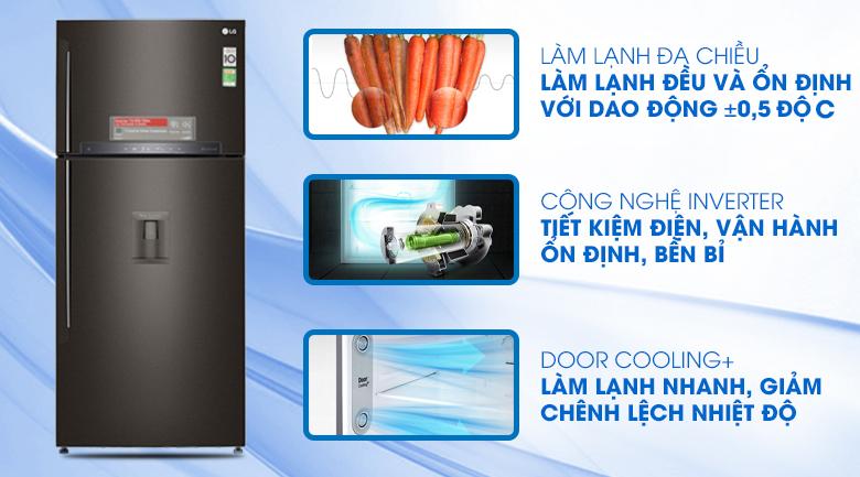 Tủ lạnh LG GN-D602BL inverter 478 lít, sang trọng tiện lợi