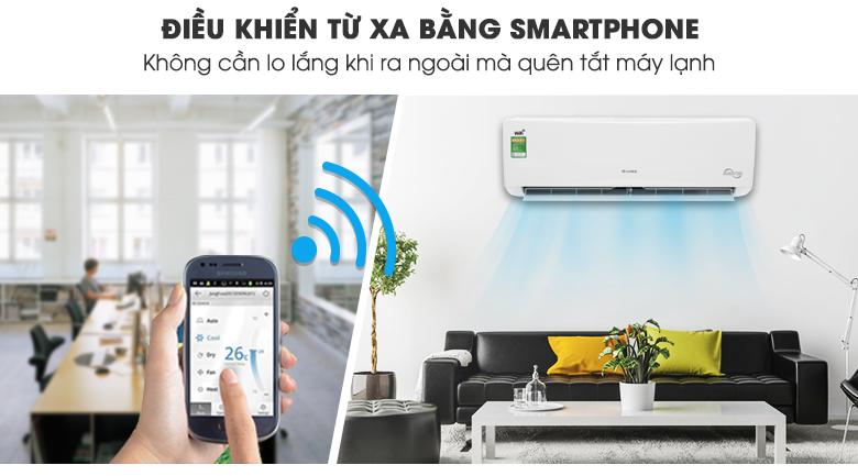 ĐIỀU HÒA GREE INVERTER 1 CHIỀU 12.000BTU GWC12BC-K6DNA1B, kết nối Wifi